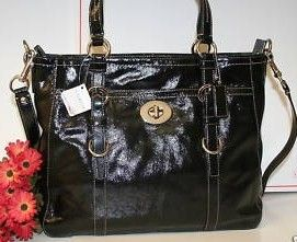 Coach Chelsea Patent Leather Tote Bag - Black