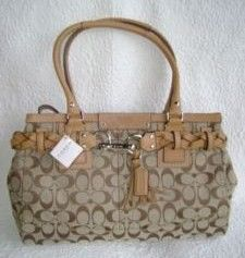 Coach Hamptons Signature Carryall Tote Purse