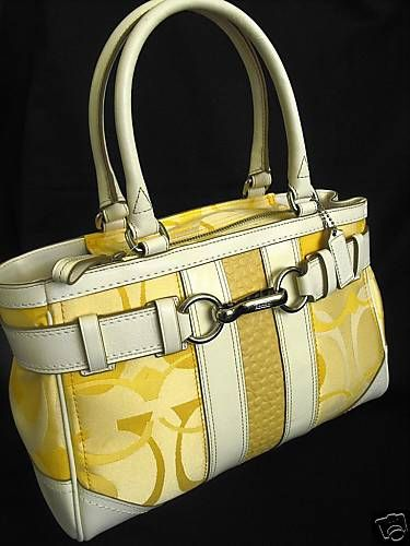 Coach Hamptons Optic Signature Carryall Yellow
