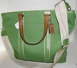 Coach Hamptons Weekend Travel Tote Bag Green