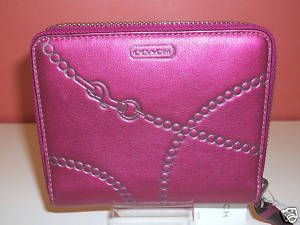 Coach Jewel RA Leather Medium Zip Around Wallet