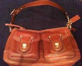 Coach Legacy Shoulder Bag Whiskey Leather 12868