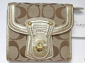 Coach Legacy Signature French Purse Clutch Wallet