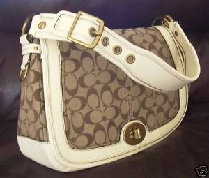 Coach Legacy Signature Shoulder Flap Bag Purse