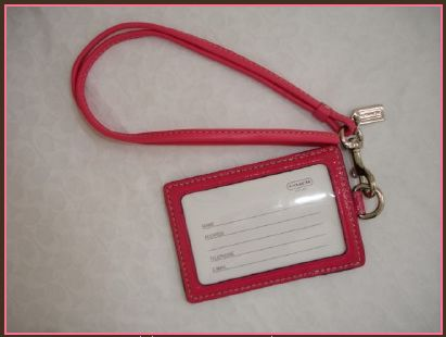 COACH Lanyard Badge ID Card Holder Case Window Side 60357