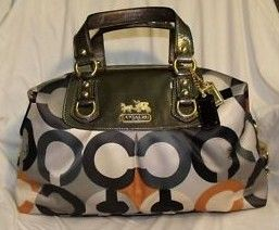 COACH Madison Sabrina Graphic OP Art Large Satchel