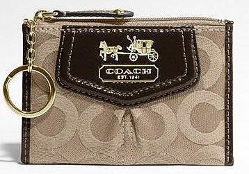 Coach Madison OP Art Mini Skinny Brown 43252