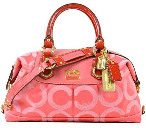 Coach Madison OP Art Sabrina Satchel Handbag 12947