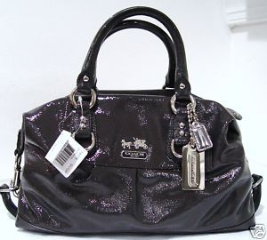 COACH Madison Sabrina Graphite Large Handbag 14179