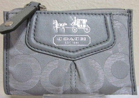 Coach Madison Silver OP Art Mini Skinny Wallet 44618