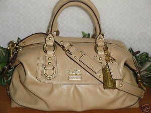 Coach Madison Tan Leather Sabrina Purse style 12937