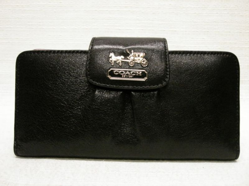 Coach Madison Leather Checkbook Wallet
