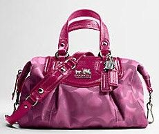 Coach Madison OP Art Sateen Audrey Purse Pink
