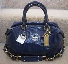 Coach Madison Patent Leather Sabrina Satchel Bag 12948