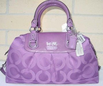 Coach Madison Sabrina OP Art Purse Purple