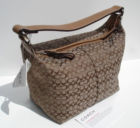 Coach Mini Signature Top Handle Purse Khaki-Doe