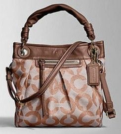 Coach Parker OP Art Convertible Hippie Bag Purse