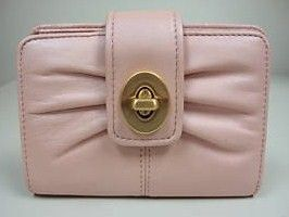 COACH Parker Pink Leather Small Wallet 42446