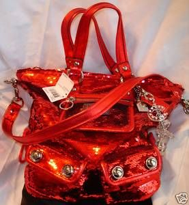 Coach Poppy Sequin HandbagPurse 13821