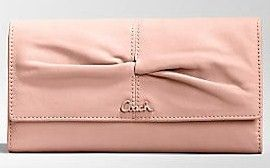 Coach Parker Rose Leather Checkbook Wallet