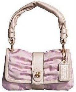 Coach Rose Parker OP Art Small Flap Purse width=