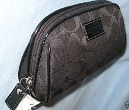 Coach Signature Black Cosmetic Travel Bag 42524