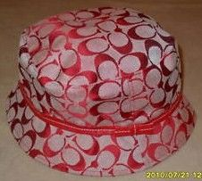 Coach Signature Red Crusher Bucket Hat