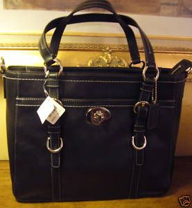 Coach Soft Leather Lg Chelsea Tote Black