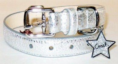 Coach Silver Sparkle Dog Collar Star Charm