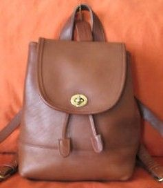 Coach Vintage British Tan Backpack