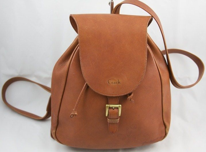 Vintage Leather Backpack Purse