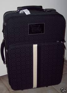 Coach Voyage Wheel Along Pullman Suitcase Black