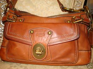 Coach Whiskey Vachetta Leather Legacy Bag 11127