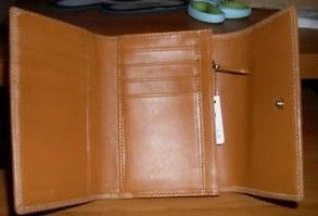 Coach Womens Tri Fold Wallet Opened Inside View
