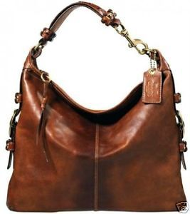 COACH XL Whiskey Leather Felicia 11424