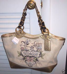 Coach Tattoo Large Canvas Tote Bag