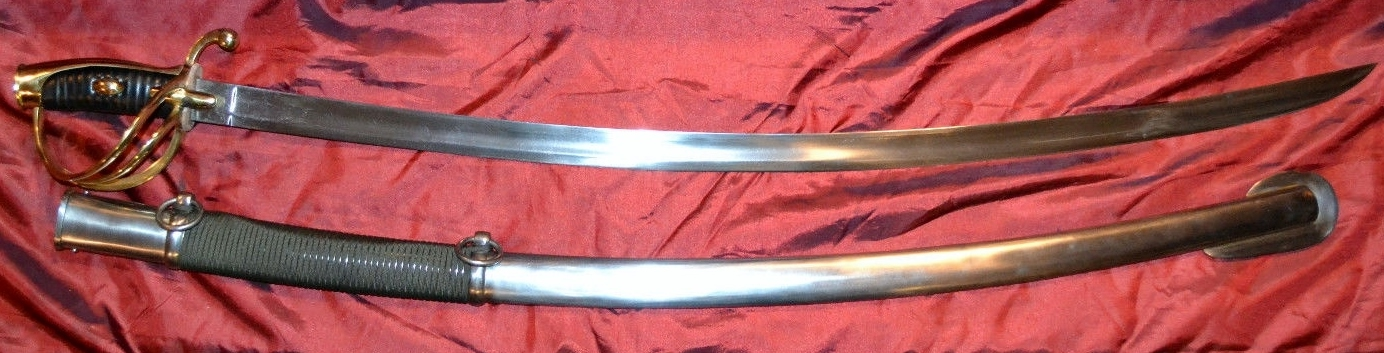 Cold Steel Cavalry Saber Sword-Seath & Sword View