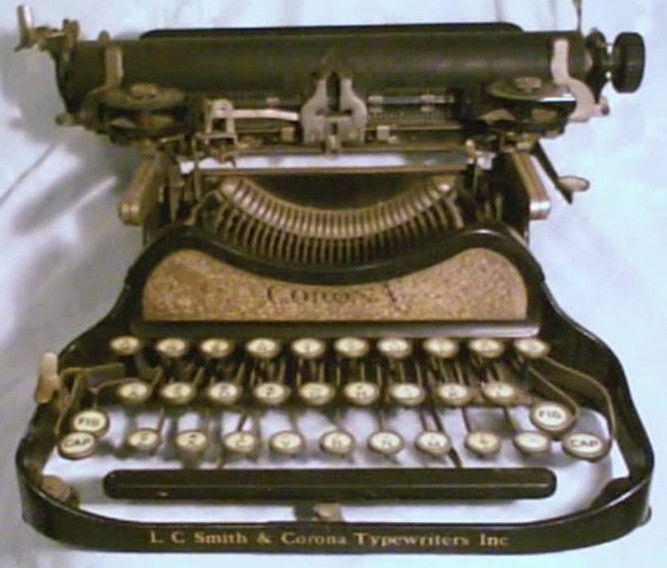 Corona Special Model 3 Gold Panel Typewriter
