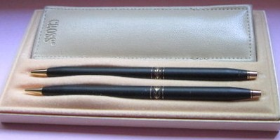 Cross Century Black Ladies Pen/Pencil Set