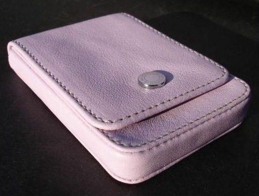 Leather Card Holder Lilac