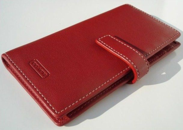 Coach Red Leather Ladies Card Wallet