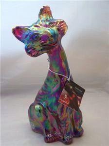 Carnival Glass Cat Red Stretch Fenton