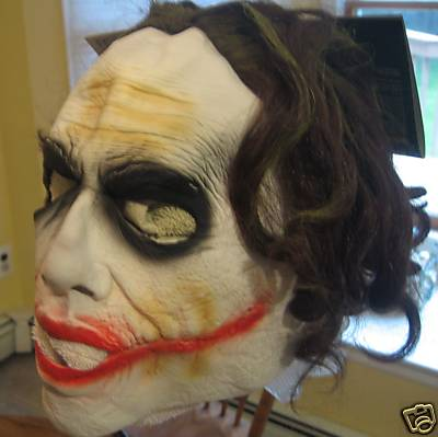 Childs Joker Vinyl Mask with Hair