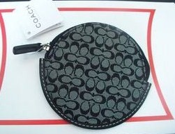 Mini Sig Classic round zip coin purse Black-White