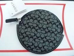 Mini Sig Classic round zip coin purse Black-White