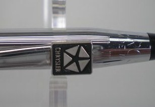 Close Up Chrysler Emblem on Cross Pen