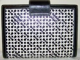 Coach 6 x 8 Signature OP Art Day Planner Black & White