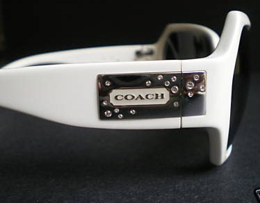 Coach Alicia Sunglasses Side View Swarovwski Crystals