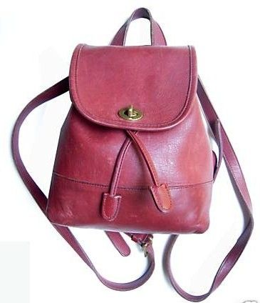Coach Authentic Bonnie Cashin Red Backpack