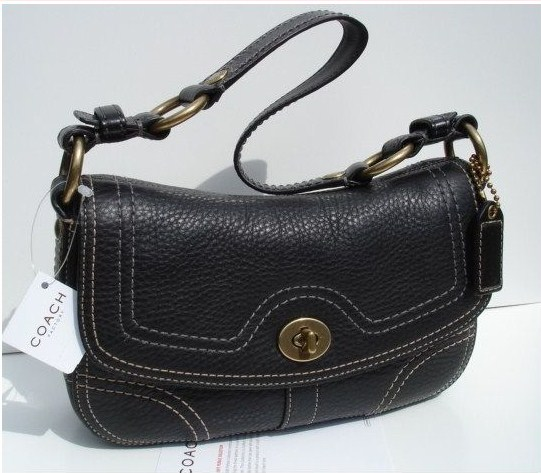 Coach Black Chelsea Flap Handbag-10951